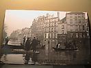 Inondations de janvier 1910 : Embarcadère Quai de la Tournelle
