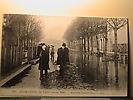 Crue de janvier1910 ; Le Boulevard Saint Germain inondé.