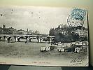Le Pont Neuf, le square du Vert-Galant depuis la rive gauche de la Seine.