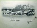 Le Pont Neuf et le barrage de la Monnaie depuis la rive gauche de la Seine.