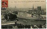 Vue sur Notre Dame et le Panthéon, prise de Saint Gervais