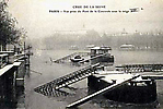 La Crue de la Seine La Vue est prise du Pont de la Concorde sous la neige