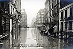 La Crue de la Seine La Rue Traversière totalement inondée