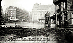 La Crue de la Seine La Rue Saint Lazare