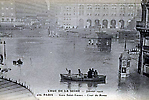 La Crue de la Seine La Gare Saint Lazare la Cour de Rome