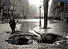 La Crue de la Seine Boulevard Hassmann en voit l'éffondrement de la voûte