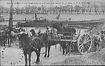 Chargeurs de cailloux aux bords de la Seine