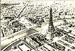 Tour Eiffel, vue avion