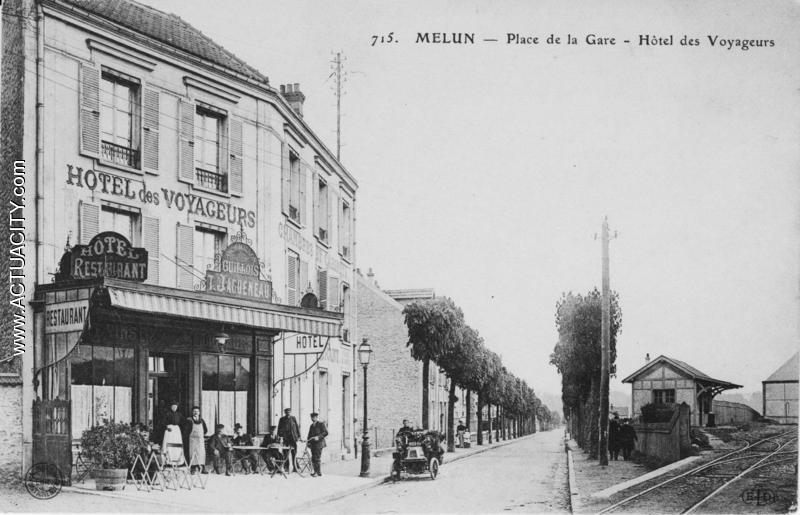 Cartes postales anciennes de melun 77000 actuacity for Garage de la gare pontault
