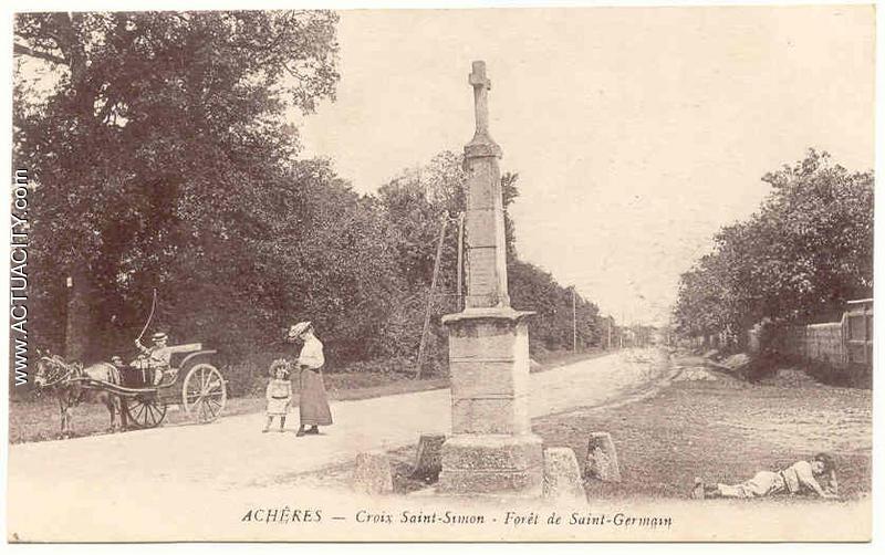 Achères : Croix Saint-Simon, forêt de Saint-Germain