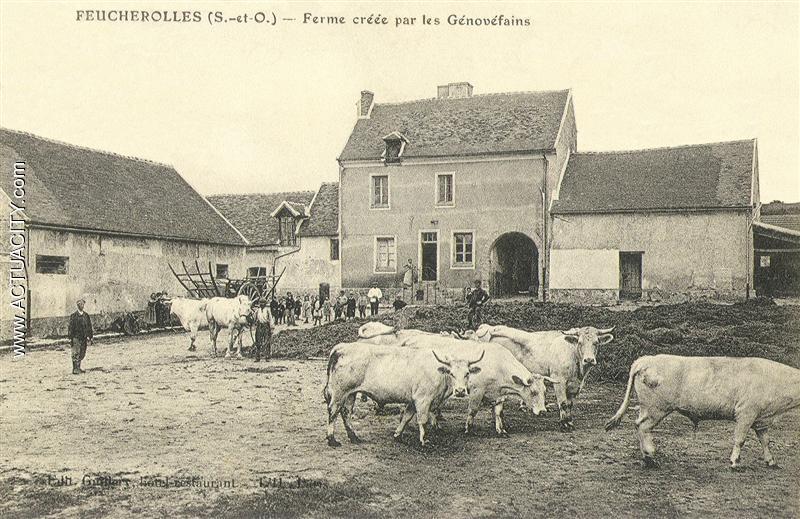 Cartes postales anciennes de feucherolles 78810 actuacity for Porte de ferme ancienne