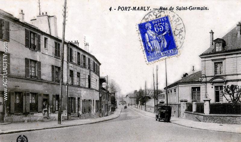 Cartes postales anciennes du port marly 78560 actuacity - Les pyramides avenue de saint germain port marly ...