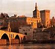 Pont st Benezet et Palais des Papes d`Avignon