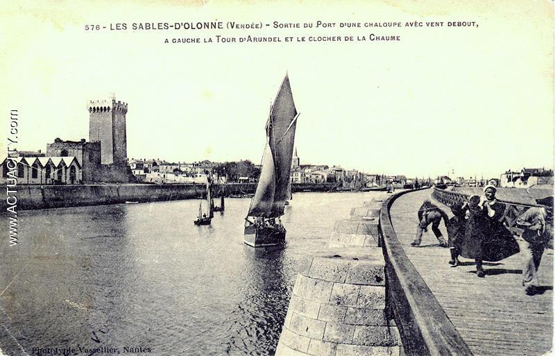 Cartes postales anciennes des sables d 39 olonne 85100 - Restaurant le port les sables d olonne ...