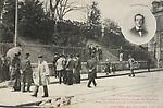 Grèves de Limoges, 17 avril 1905. Angle du jardin d`Orsay où a eu lieu la fusillade. Vardelle a été