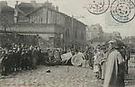 Gr�ves de Limoges, 15 avril 1905. Barricade �lev�e devant la Fabrique