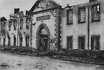 Incendie volontaire de la ville par les Allemands - Novembre 1944. Hôpital Saint-Charles.