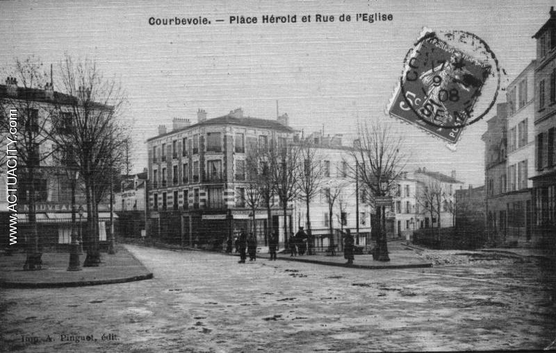 Place Hérold et rue de l'Eglise
