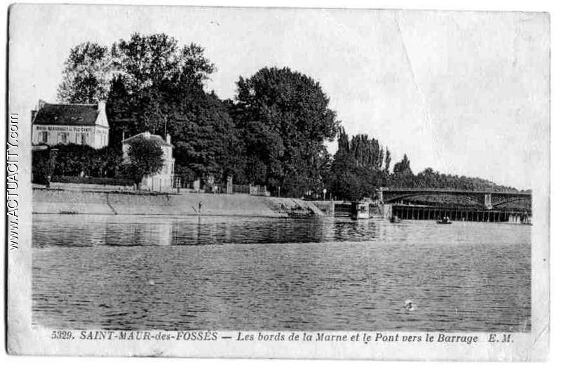 Les bords de la Marne et le Pont vers le barrage