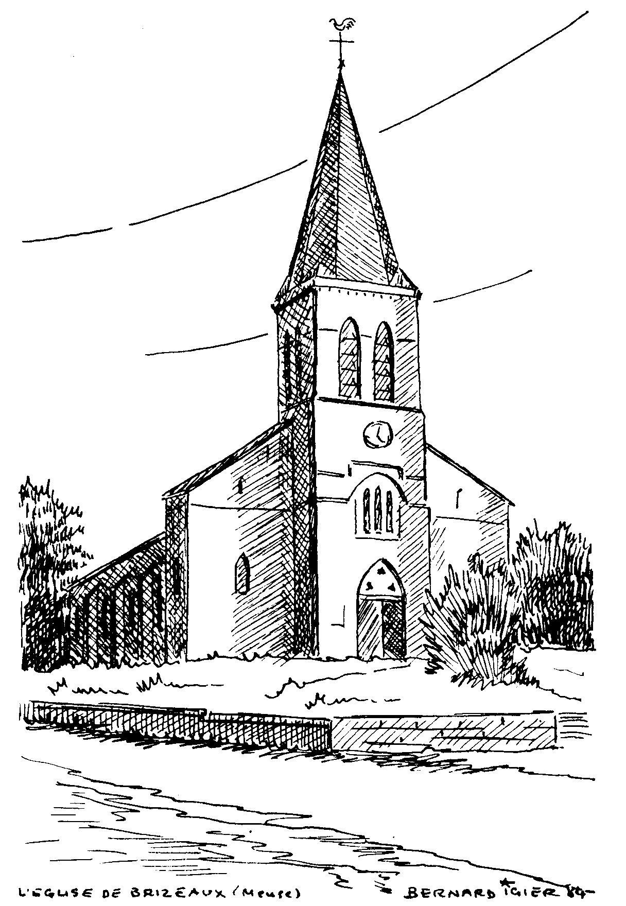 Photos de brizeaux 55250 actuacity - Eglise dessin ...