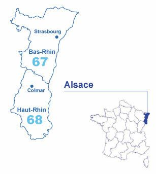 Carte Alsace