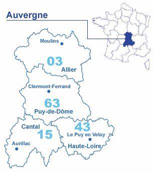 Carte Auvergne