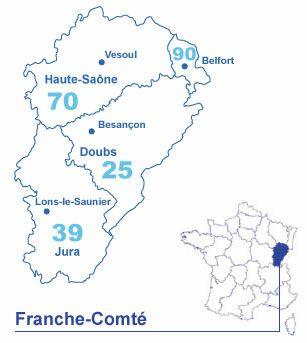 Carte Franche-Comté