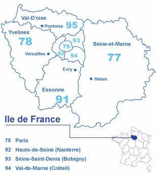 Carte Île-de-France