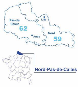 Carte Nord-Pas-de-Calais